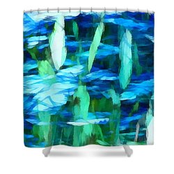 Float 2 Horizontal Shower Curtain by Angelina Vick