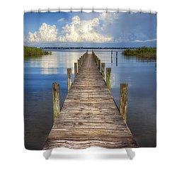 Floating Shower Curtain by Debra and Dave Vanderlaan