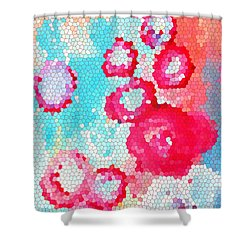 Floral IIi Shower Curtain by Patricia Awapara