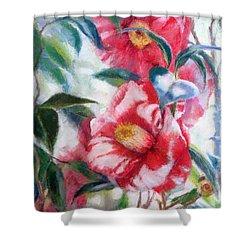 Floral Print Shower Curtain by Nancy Stutes