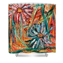 Floral Swirl Shower Curtain by Kendall Kessler