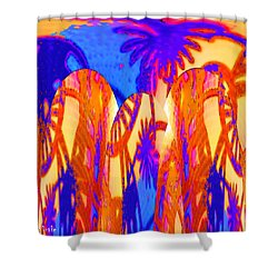 Florida Splash Abstract Shower Curtain by Alec Drake