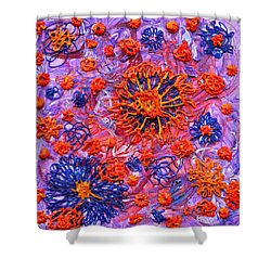 Floridly Floral Shower Curtain by Regina Valluzzi