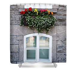 Flower Box Old Quebec City Shower Curtain by Edward Fielding