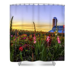 Flower Farm Shower Curtain by Mark Papke