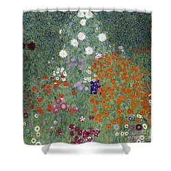 Flower Garden Shower Curtain by Gustav Klimt