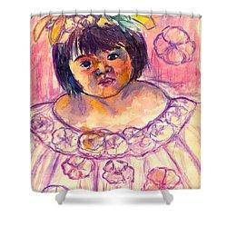 Flower Girl Shower Curtain by Kendall Kessler