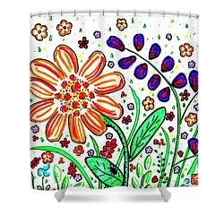 Flower Joy Shower Curtain by Sarah Loft