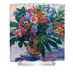 Flower Life Shower Curtain by Kendall Kessler