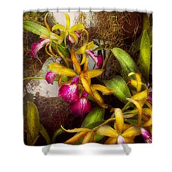 Flower - Orchid - Cattleya - There's Something About Orchids  Shower Curtain by Mike Savad