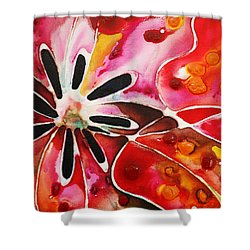 Flower Power - Abstract Floral By Sharon Cummings Shower Curtain by Sharon Cummings