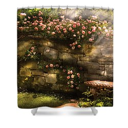 Flower - Rose - In The Rose Garden  Shower Curtain by Mike Savad