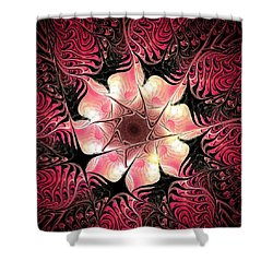 Flower Scent Shower Curtain by Anastasiya Malakhova