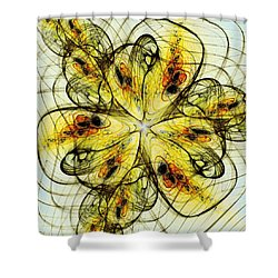 Flower Sketch Shower Curtain by Anastasiya Malakhova