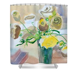 Flower Still Life          Shower Curtain by Kathy Braud