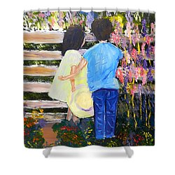 Flowers For Her Shower Curtain by Pamela  Meredith