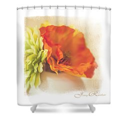 Flowers In Vase. Mini-idea For Interior Shower Curtain by Jenny Rainbow