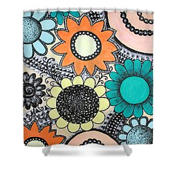 Flowers Paradise Shower Curtain by Home Art
