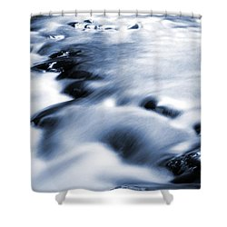 Flowing Stream Shower Curtain by Les Cunliffe