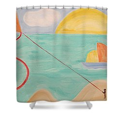 Flying A Kite Shower Curtain by Patrick J Murphy