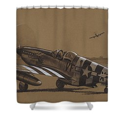 Flying Dutchman Shower Curtain by Wade Meyers