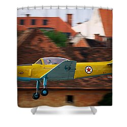 Flying Low Shower Curtain by Ivan Slosar