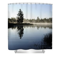 Foggy Morning Shower Curtain by Larry Ricker