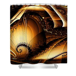 Folds In Time Shower Curtain by Peter R Nicholls