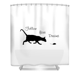 Follow Your Dreams Shower Curtain by Bamalam  Photography