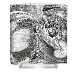 Fomorii Aliens Shower Curtain by Otto Rapp