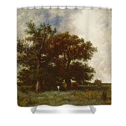 Fontainebleau Oak Shower Curtain by Jules Dupre