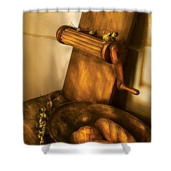 Food -  Bread  Shower Curtain by Mike Savad
