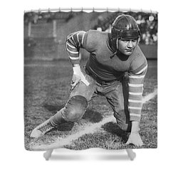 Football Fullback Player Shower Curtain by Underwood Archives