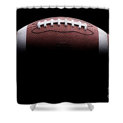 Football Painting Shower Curtain by Jon Neidert