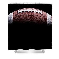 Football Painting Shower Curtain by Jon Neidert