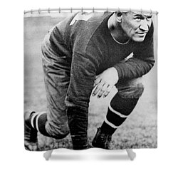 Football Player Jim Thorpe Shower Curtain by Underwood Archives