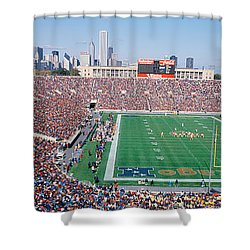 Football, Soldier Field, Chicago Shower Curtain by Panoramic Images