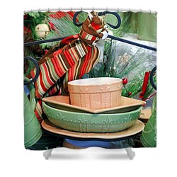 For The Kitchen Shower Curtain by Kathleen Struckle