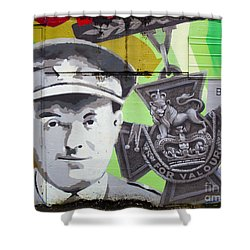 For Valour Shower Curtain by Chris Dutton