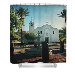 For Whom The Bell Tolls Shower Curtain by Laurie Search