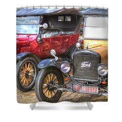 Ford-t  Mobiles Of The 20th Shower Curtain by Heiko Koehrer-Wagner