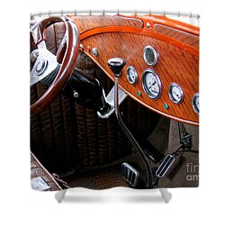 Ford V8 Dashboard Shower Curtain by Mary Deal