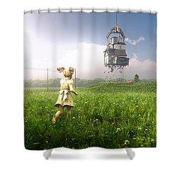 Foreclosure Shower Curtain by Cynthia Decker