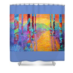 Forest Fantasy Shower Curtain by Nancy Jolley