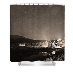 Forest Of Stars Above The Chapel On The Rock Sepia Shower Curtain by James BO  Insogna