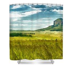Forgotten Fields Shower Curtain by Ayse Deniz