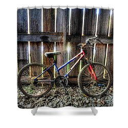 Forgotten Replaced By New Set Of Wheels Shower Curtain by Dan Friend