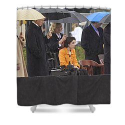Former Us President Bill Clinton Shower Curtain by Panoramic Images