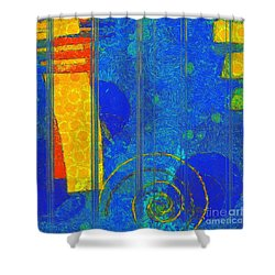 Formes - A0201blylgr Shower Curtain by Variance Collections