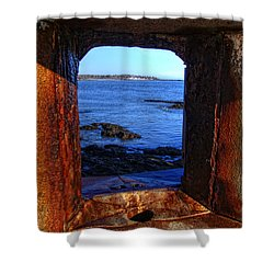 Fort Constitution Shower Curtain by Joann Vitali